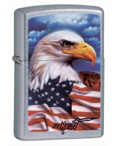 Zippo Pipe Lighter: American Eagle by Mazzi - Street Chrome 24764PL
