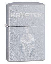 Zippo Lighter: Kryptek Logo, Engraved - Satin Chrome 49177