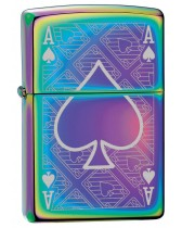 Zippo Lighter: Ace of Spades Engraved - Spectrum 78747