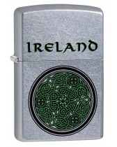 Zippo Lighter: Ireland Celtic Knot - Street Chrome 79254