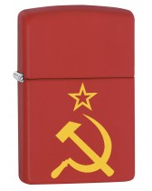 Zippo Lighter: Hammer, Sickle and Star - Red Matte 79257