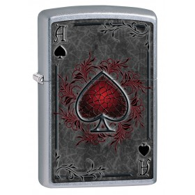 6466f9c0ab1f Zippo Lighter  Ace of Spades - Street Chrome 79476