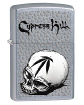 Zippo Lighter: Cypress Hill Skull and Weed Leaf - Street Chrome 80289