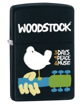 Zippo Lighter: Woodstock, 3 Days of Peace and Music - Black Matte 80406