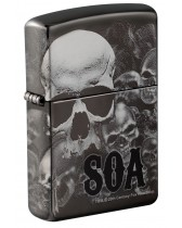 Zippo Lighter: Sons of Anarchy, Photo Image 360 - Black Ice 49192