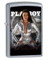 Zippo Lighter: Playboy Cover, March/April 2018 - Street Chrome 80130