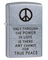 Zippo Lighter: Vietnam Trench Art, Peace - Street Chrome 80782